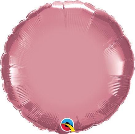 Round Shaped Mauve Chrome Foil Helium Balloon